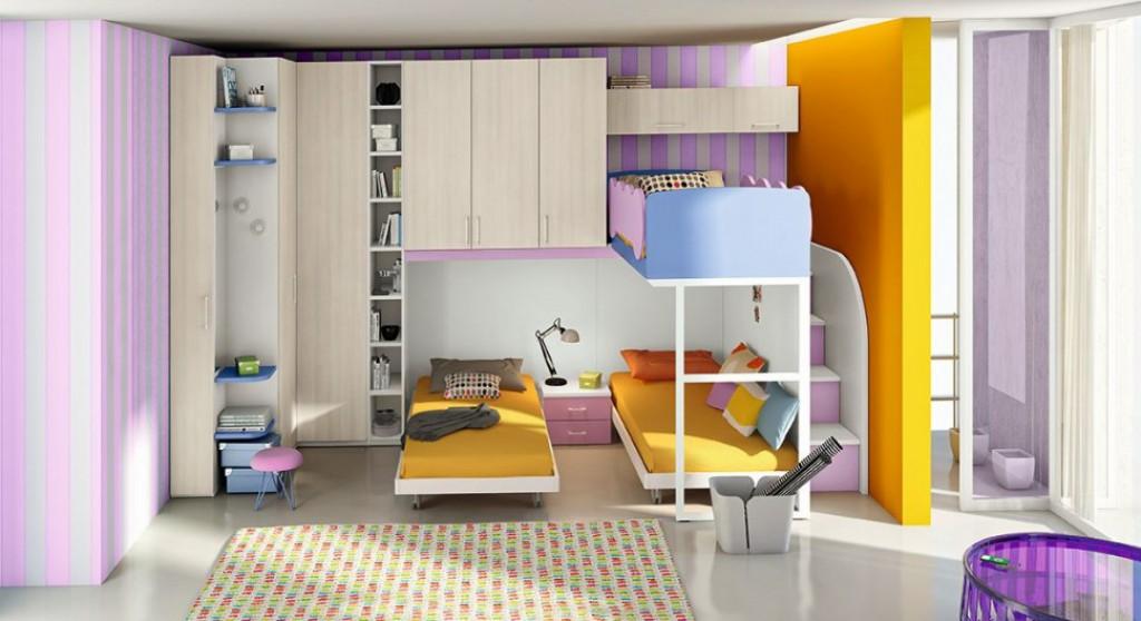 Cameretta moderna oc c141 cucine mobili di qualit al for Jugendzimmer colori