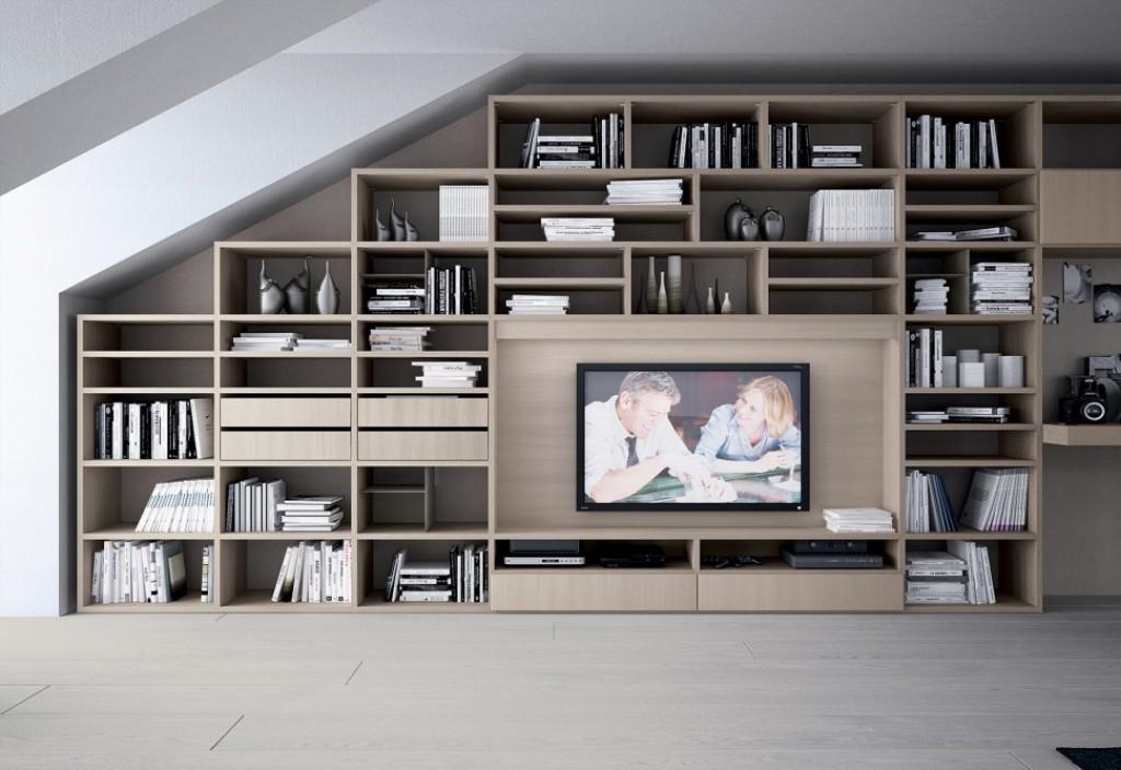 Libreria moderna oc l102 cucine mobili di qualit al for Soggiorno a londra offerte