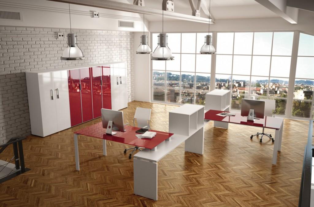 Ufficio moderno oc lf2 cucine mobili di qualit al for Arredo ufficio bianco